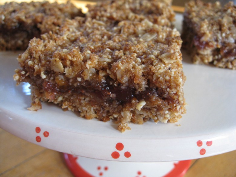 Brown butter jam bars (detail)